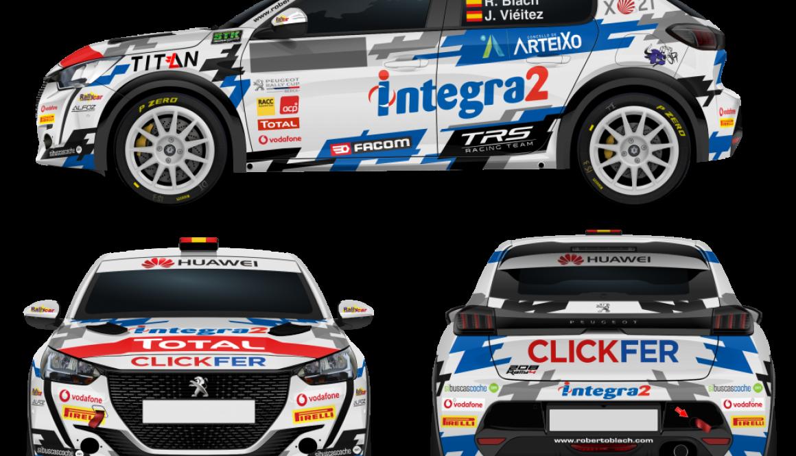 Peugeot 208 Rally4 - Roberto Blach